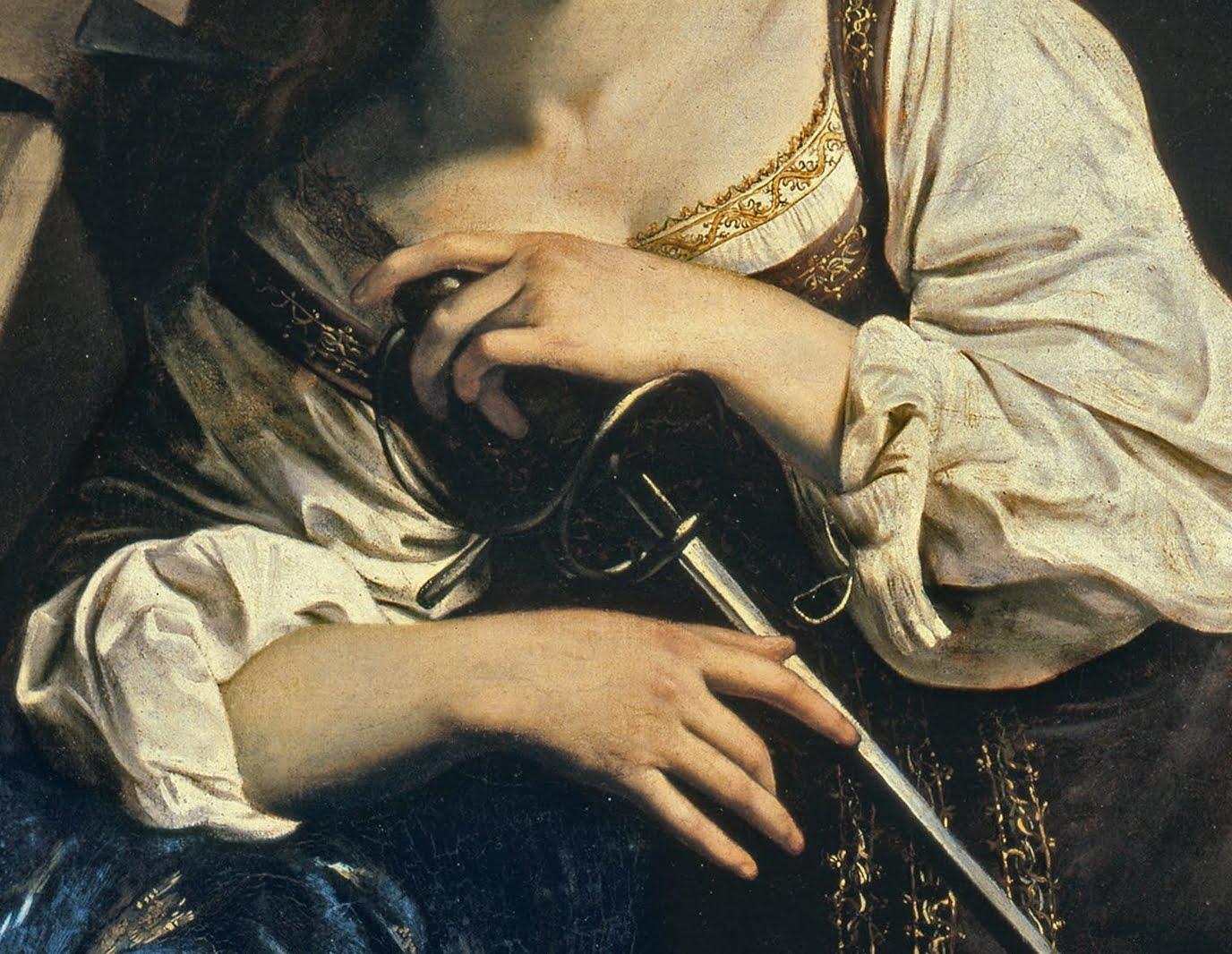 Le Caravage, Ste Catherine d'Alexandrie (détail)