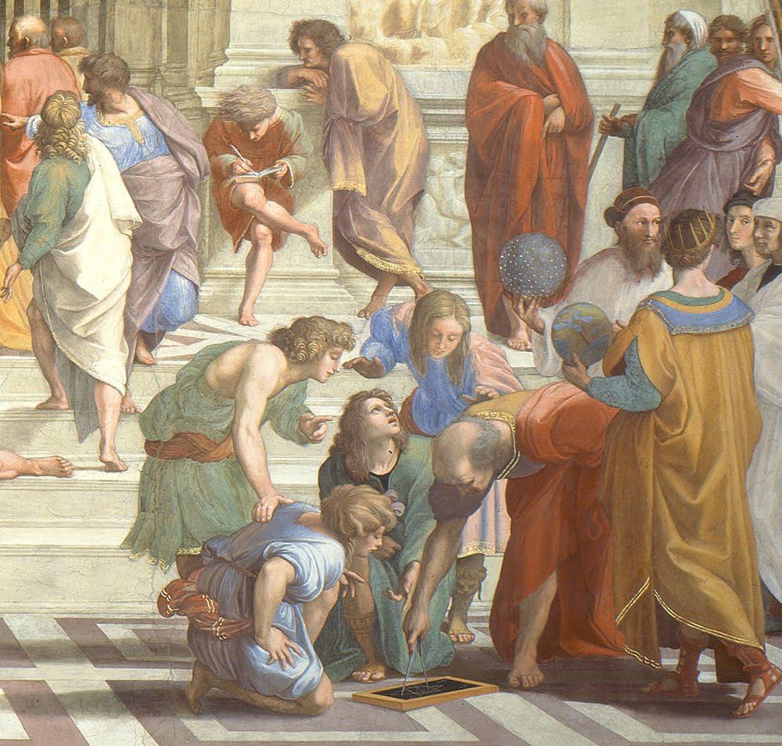 Raphaël, L'école d'Athènes. (détail)