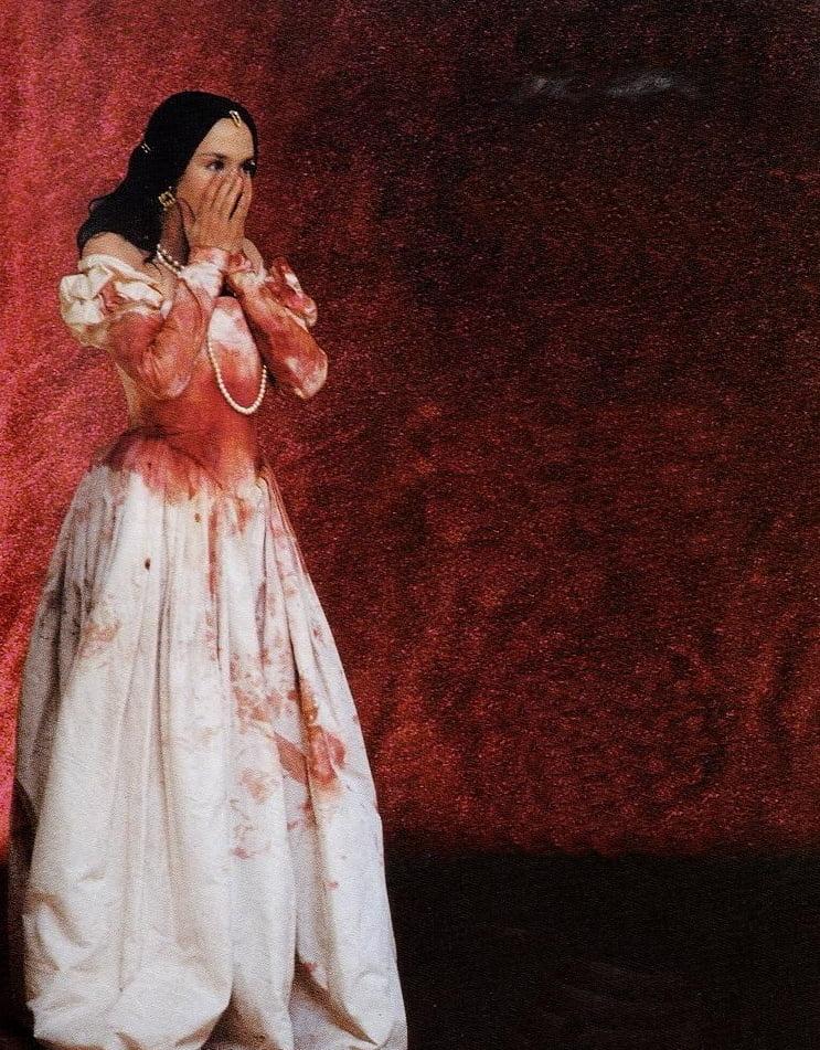 Isabelle Adjani dans La reine Margot, film de Patrice Chéreau, 1994.