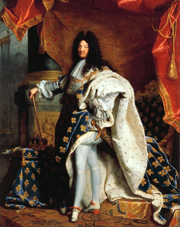 Louis XIV par H. Rigaud (détail)