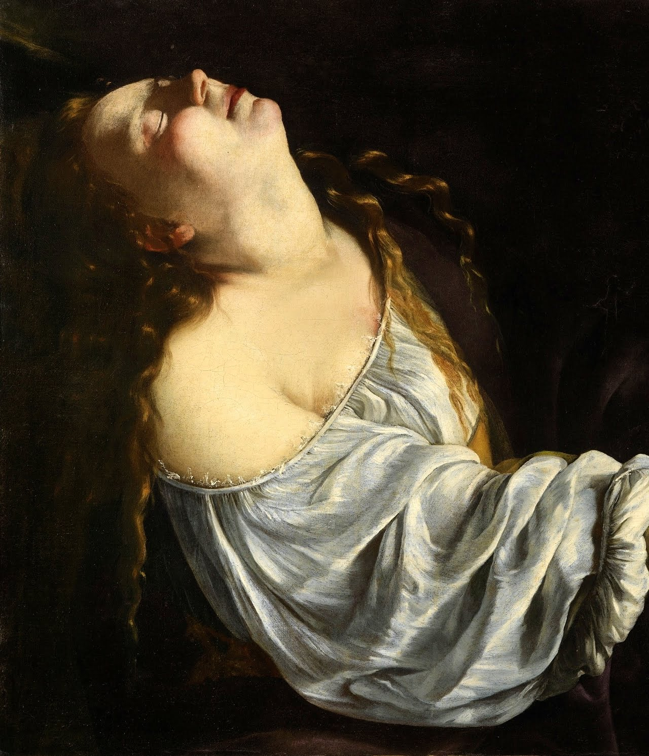 Artemisia Gentileschi / Артемизия Джентилески (1593-1653) - Maria Maddalena in estasi  / Мария Магдалина в экстазе (1613-1620)