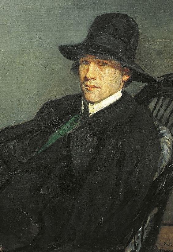 André Gide par Jacques Emile Blanche, 1912 (détail)