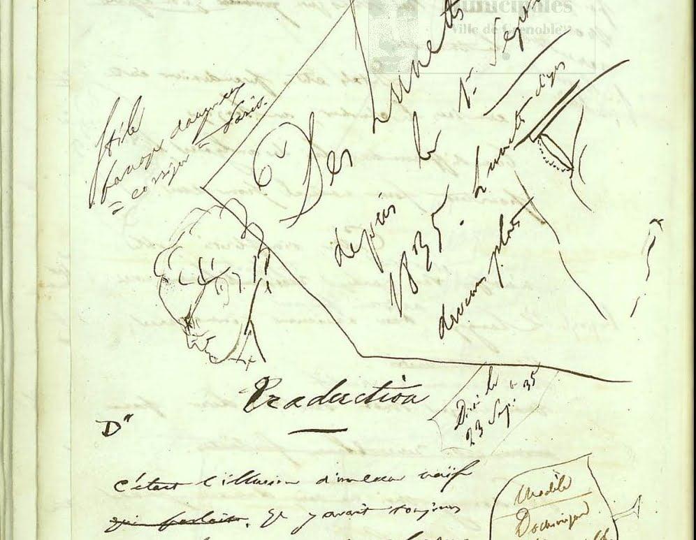 Manuscrit issu de Lucien Leuwen (détail)