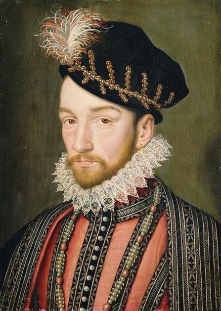 Charles IX de France, d'après François Clouet. Huile sur bois, Versailles. (musée national du château)